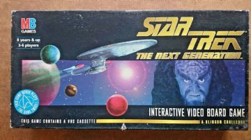 Star Trek Interactive  Video Board Game By MB 1990s